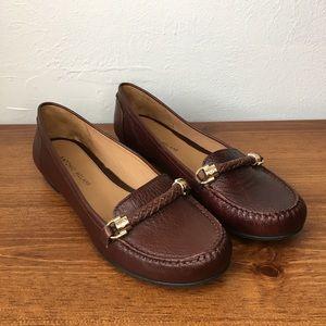 Antonio Melani Brown Leather Audrey Loafers, 9